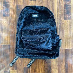 NWT Pink Black Velvet Crush Campus Backpack
